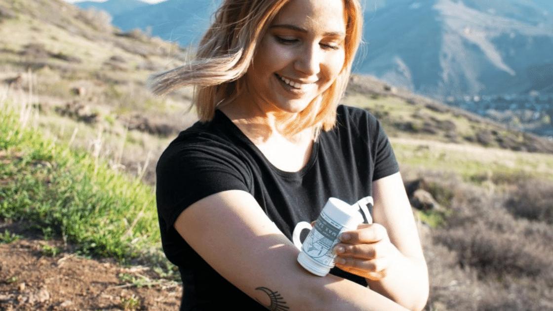 Woman applying CBD Salve