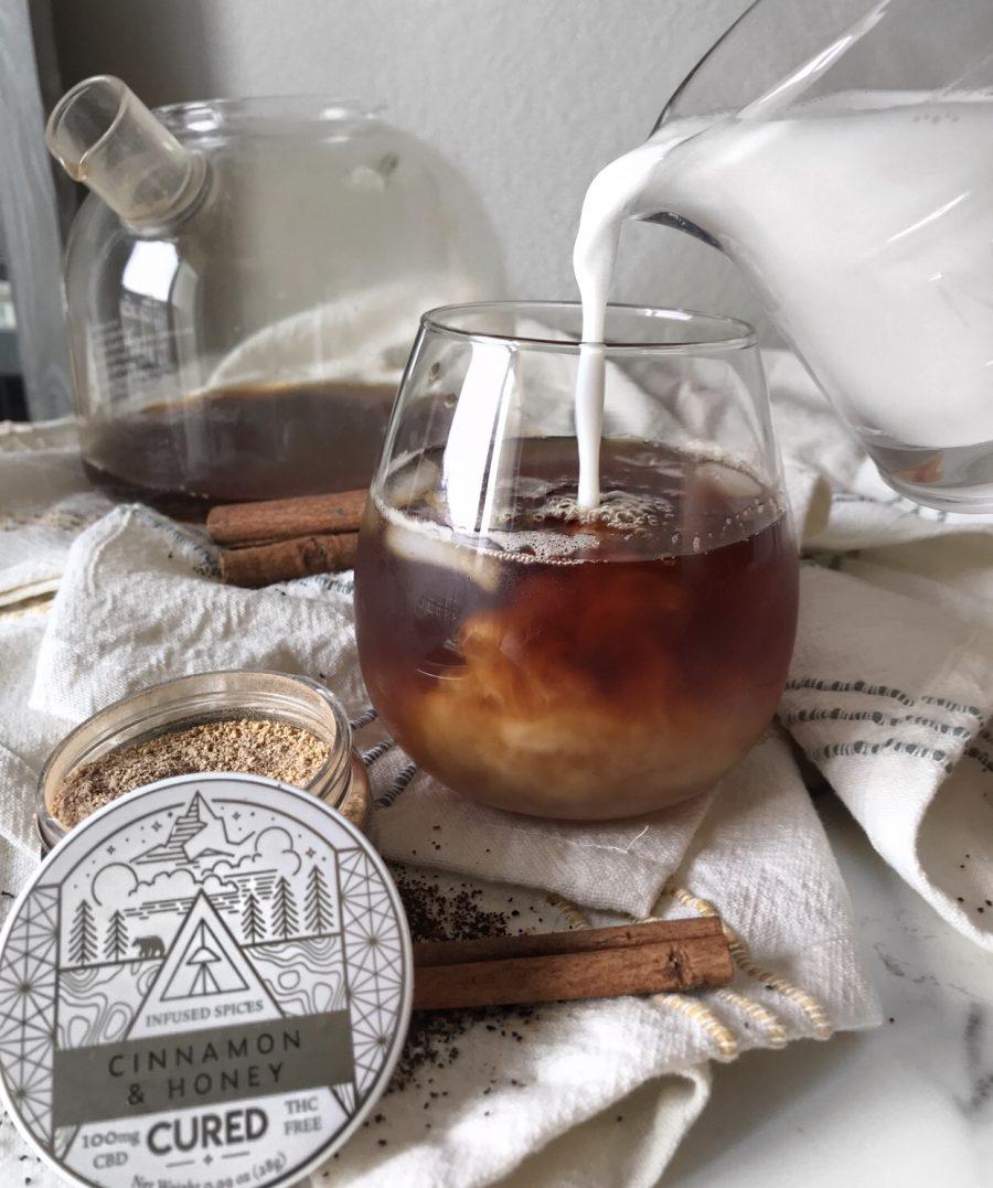 Stress-Reducing Iced Cinnamon Chai Latte